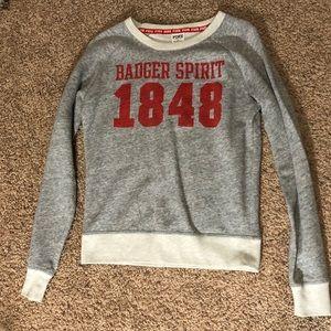 PINK Wisconsin Badgers Crew Neck Sweatshirt